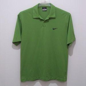 Nike Golf Dri Fit Polo Shirt Mens M Green 1922